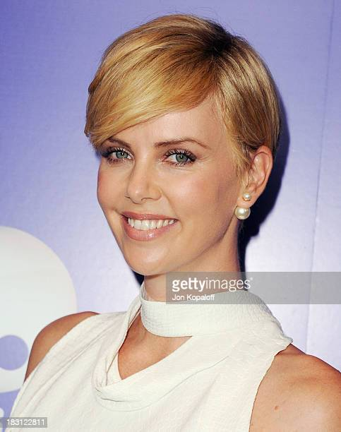 Actress Charlize Theron arrives at Variety's 5th Annual Power Of Women Event at the Beverly Wilshire Four Seasons Hotel on October 4 2013 in Beverly...