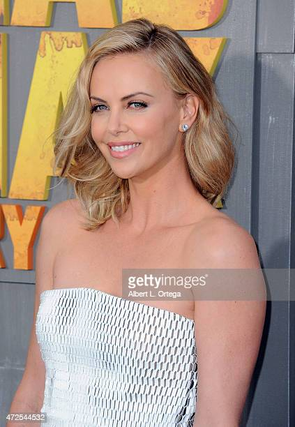 "Actress Charlize Theron arrives for the Premiere Of Warner Bros. Pictures' ""Mad Max: Fury Road"" held at TCL Chinese Theatre on May 7, 2015 in..."