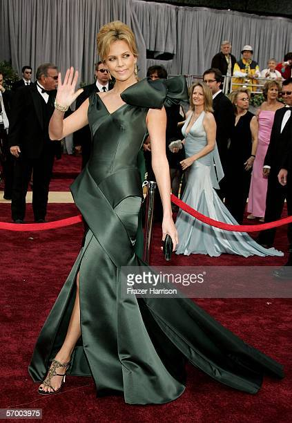 Actress Charlize Theron arrives to the 78th Annual Academy Awards at the Kodak Theatre on March 5 2006 in Hollywood California