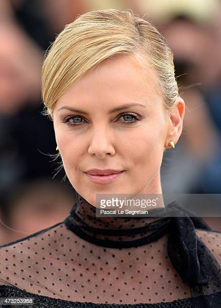 Actress Charlize Theron attends a photocall for 'Mad Max Fury Road' during the 68th annual Cannes Film Festival on May 14 2015 in Cannes France
