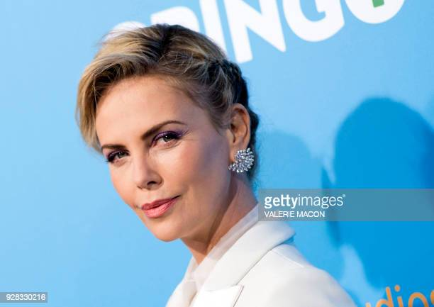 TOPSHOT Actress Charlize Theron attends Amazon Studios' world premiere of 'Gringo' on March 6 2018 in Los Angeles California