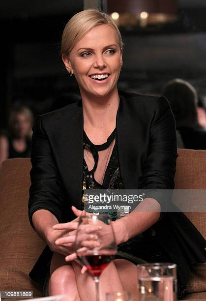 Actress Charlize Theron attends Eve Ensler and V-Day celebrate the opening of City of Joy in the DRC held at Soho House on International Women's Day...