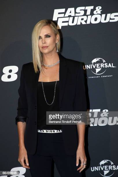 Actress Charlize Theron attends 'Fast Fourious 8' Paris Premiere at Le Grand Rex on April 5 2017 in Paris France