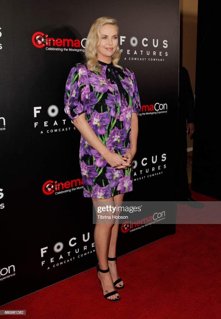 Actress Charlize Theron attends Focus Features luncheon and studio program celebrating 15 Years during CinemaCon 2017 at Caesars Palaceon March 29, 2017 in Las Vegas, Nevada.