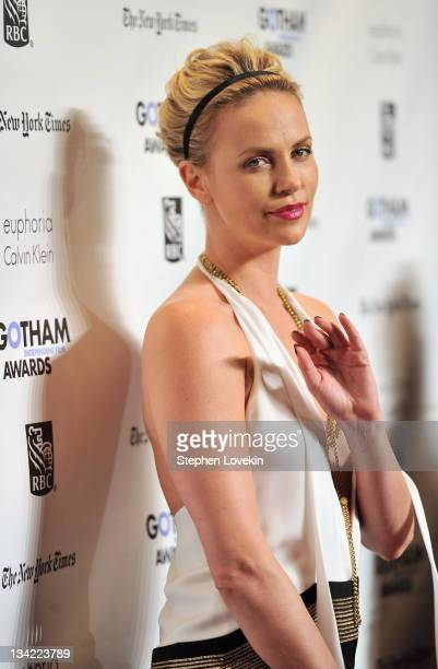 Actress Charlize Theron attends IFP's 21st annual Gotham Independent Film awards at Cipriani Wall Street on November 28 2011 in New York City