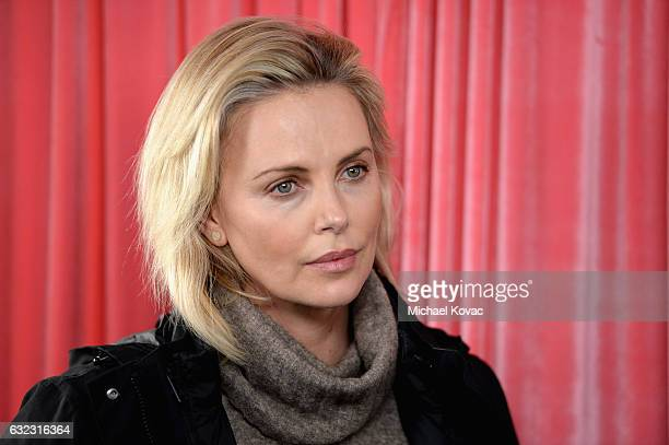 Actress Charlize Theron attends Park City Live Presents The Hub Featuring The Marie Claire Studio and the 4K ULTRA HD Showcase Brought to You by the...