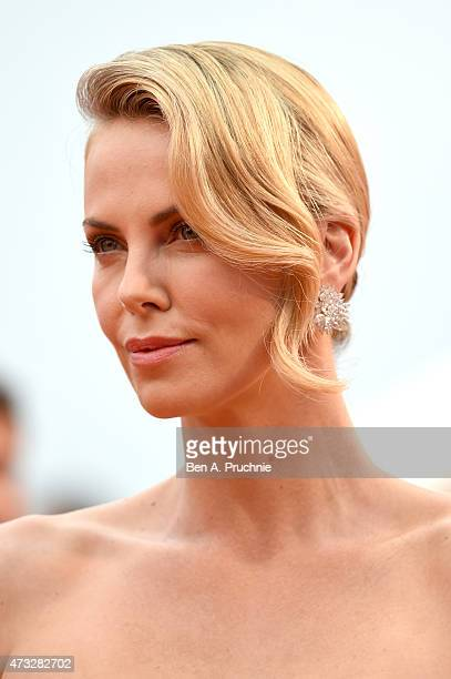 """Actress Charlize Theron attends Premiere of """"Mad Max: Fury Road"""" during the 68th annual Cannes Film Festival on May 14, 2015 in Cannes, France."""