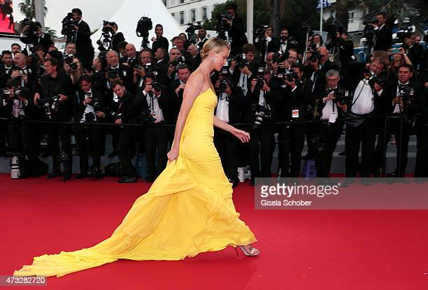 Actress Charlize Theron attends Premiere of Mad Max Fury Road during the 68th annual Cannes Film Festival on May 14 2015 in Cannes France