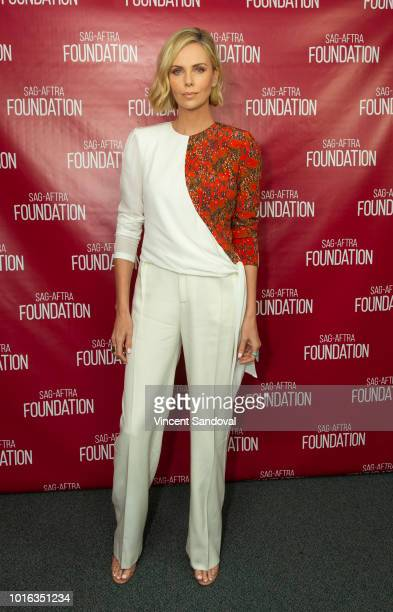 Actress Charlize Theron attends SAGAFTRA Foundation Conversations screening of Tully at SAGAFTRA Foundation Screening Room on August 9 2018 in Los...