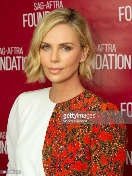"""Actress Charlize Theron attends SAG-AFTRA Foundation Conversations screening of """"Tully"""" at SAG-AFTRA Foundation Screening Room on August 9, 2018 in..."""