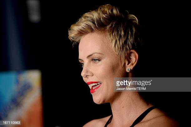 Actress Charlize Theron attends the 24th Annual GLAAD Media Awards at JW Marriott Los Angeles at LA LIVE on April 20 2013 in Los Angeles California