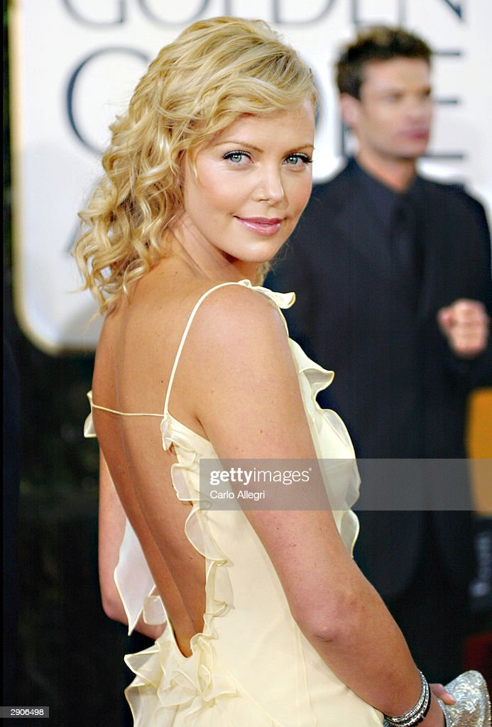 Actress Charlize Theron attends the 61st Annual Golden Globe Awards at the Beverly Hilton Hotel on January 25, 2004 in Beverly Hills, California.