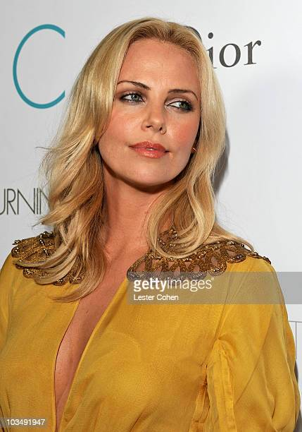 Actress Charlize Theron attends the after party for the premiere of The Burning Plain held at the Thompson Hotel on September 14 2009 in Beverly...