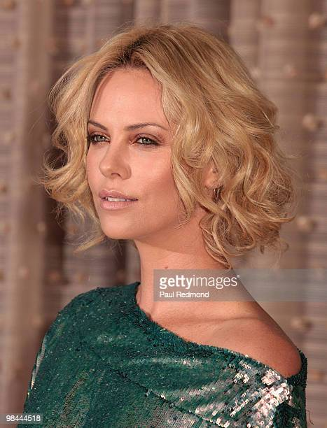 Actress Charlize Theron attends the at American Cinematheque 24th Annual Award Presentation To Matt Damon at The Beverly Hilton hotel on March 27...