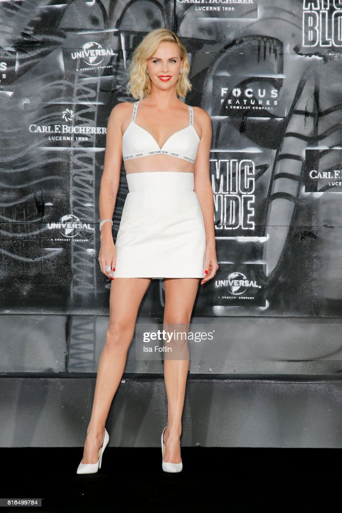 US actress Charlize Theron attends the 'Atomic Blonde' World Premiere at Stage Theater on July 17, 2017 in Berlin, Germany.