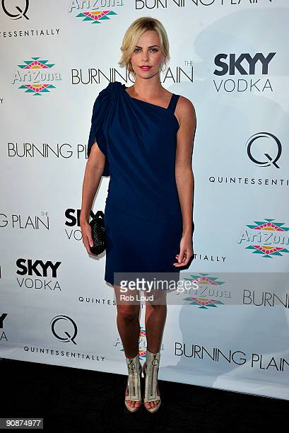 Actress Charlize Theron attends The Burning Plain screening at Sunshine Cinema on September 16 2009 in New York City
