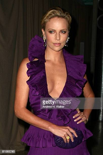 Actress Charlize Theron attends the Christian Dior Cruise 2009 Collection at Gustavino's in New York City