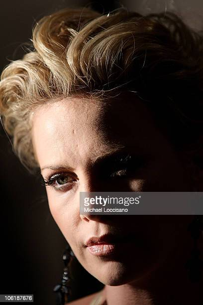 Actress Charlize Theron attends The Cinema Society and Dior Beauty screening of 'Sleepwalking' at the Tribeca Grand Hotel in New York City on March...