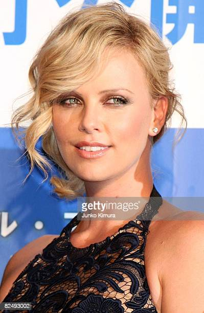 Actress Charlize Theron attends the 'Hancock' Japan Premiere at JCB Hall on August 21 2008 in Tokyo Japan The film will open on August 30 in Japan