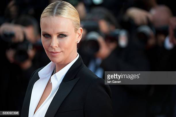 """Actress Charlize Theron attends """"The Last Face"""" Premiere during the 69th annual Cannes Film Festival at the Palais des Festivals on May 20, 2016 in..."""
