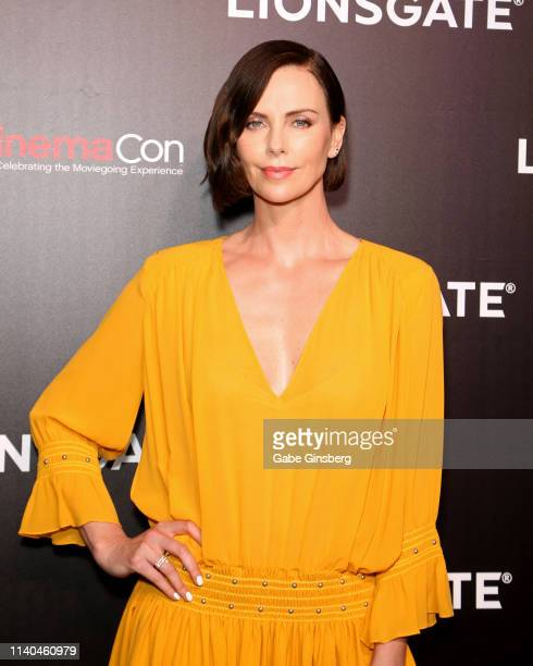Actress Charlize Theron attends the Lionsgate presentation during CinemaCon at The Colosseum at Caesars Palace on April 04 2019 in Las Vegas Nevada...
