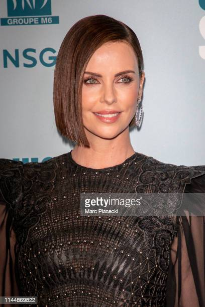 Actress Charlize Theron attends the Long Shot Premiere At Gaumont Opera Capucines on April 24 2019 in Paris France