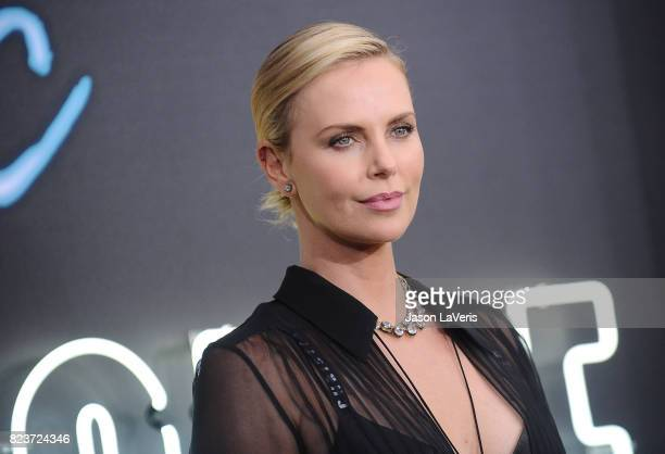 Actress Charlize Theron attends the premiere of 'Atomic Blonde' at The Theatre at Ace Hotel on July 24 2017 in Los Angeles California