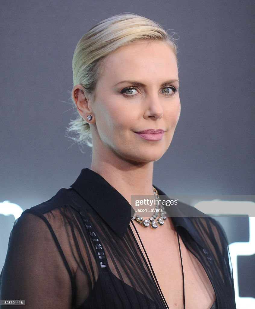 Actress Charlize Theron attends the premiere of 'Atomic Blonde' at The Theatre at Ace Hotel on July 24, 2017 in Los Angeles, California.