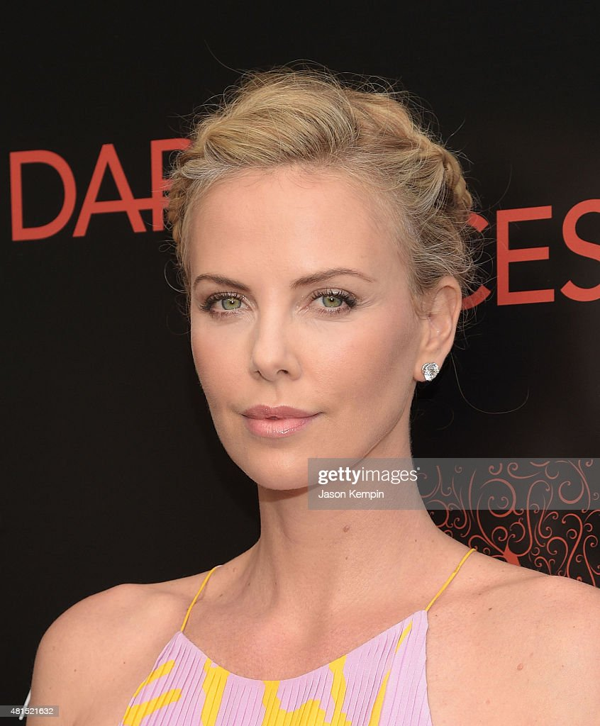 Actress Charlize Theron attends the premiere of 'Dark Places' at Harmony Gold Theatre on July 21, 2015 in Los Angeles, California.