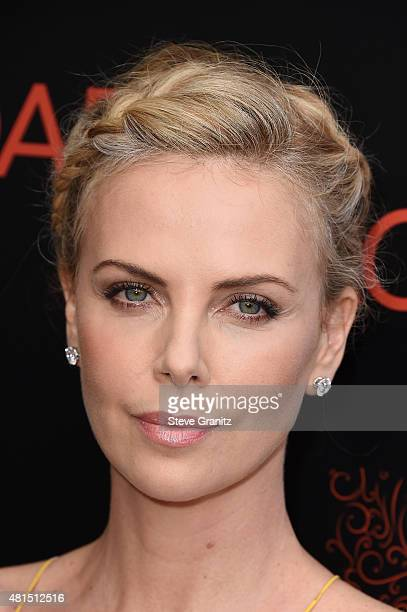 Actress Charlize Theron attends the premiere of DIRECTV's Dark Places at Harmony Gold Theatre on July 21 2015 in Los Angeles California