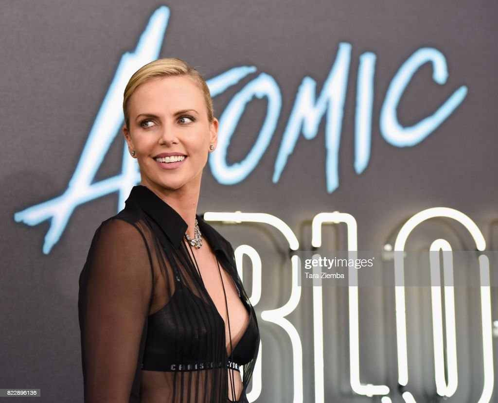 Actress Charlize Theron attends the premiere of Focus Features' 'Atomic Blonde' at The Theatre at Ace Hotel on July 24, 2017 in Los Angeles, California.
