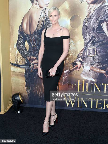 Actress Charlize Theron attends the premiere of Universal Pictures' 'The Huntsman Winter's War' at the Regency Village Theatre on April 11 2016 in...