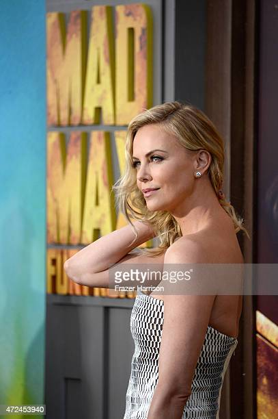 "Actress Charlize Theron attends the premiere of Warner Bros. Pictures' ""Mad Max: Fury Road"" at TCL Chinese Theatre on May 7, 2015 in Hollywood,..."