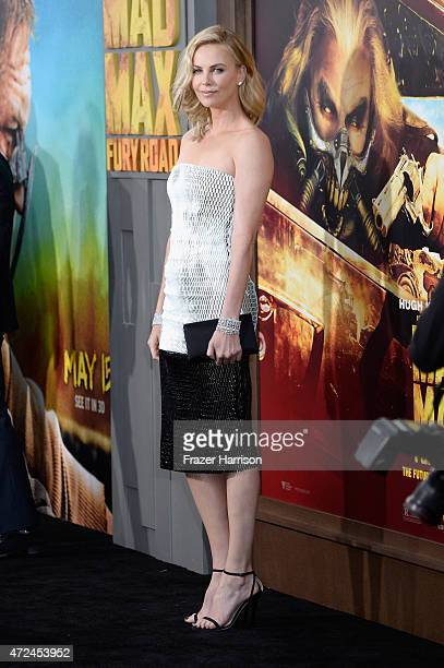 Actress Charlize Theron attends the premiere of Warner Bros Pictures' Mad Max Fury Road at TCL Chinese Theatre on May 7 2015 in Hollywood California