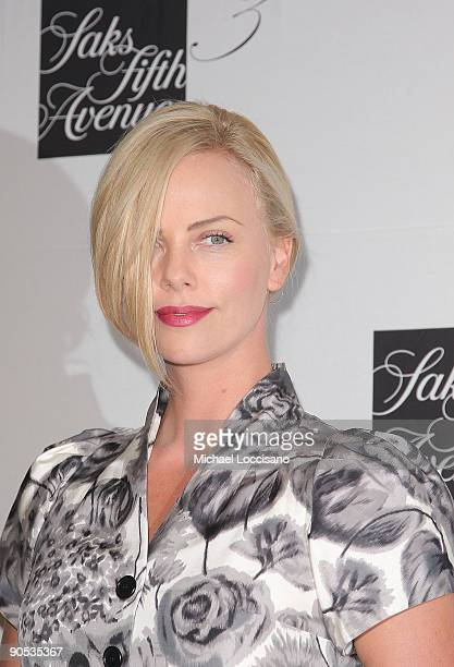 Actress Charlize Theron attends the unveiling celebration for the new third floor at Saks Fifth Avenue on September 9 2009 in New York City