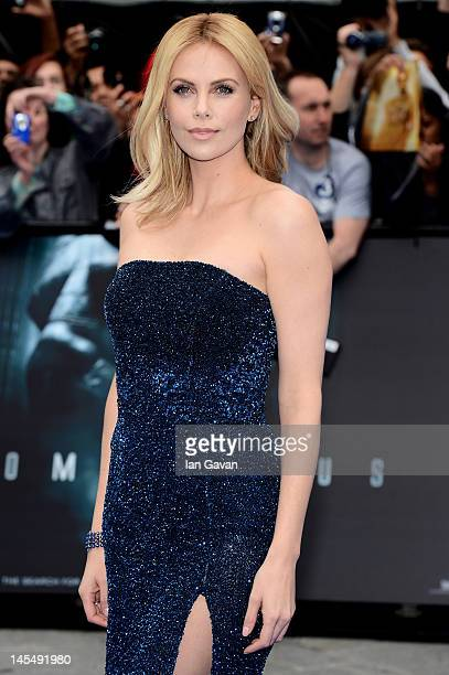 Actress Charlize Theron attends the world premiere of Prometheus at the Empire Leicester Square on May 31 2012 in London England