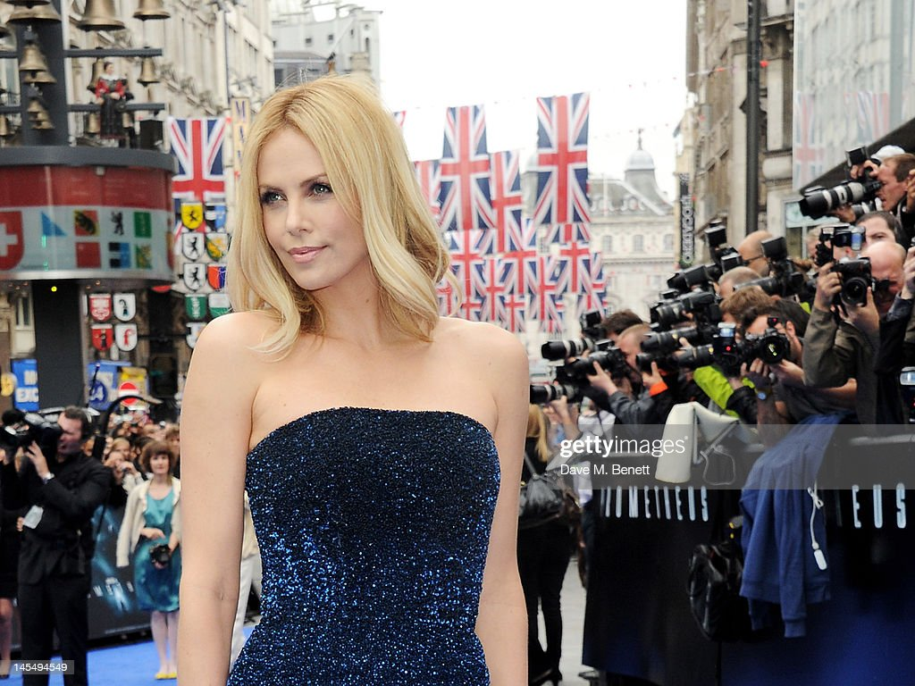 Actress Charlize Theron attends the World Premiere of 'Prometheus' at Empire Leicester Square on May 31, 2012 in London, England.