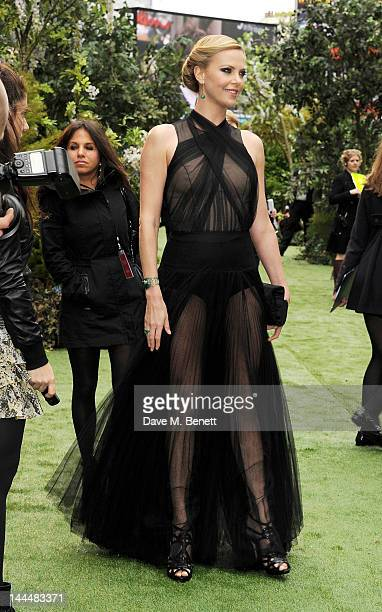 Actress Charlize Theron attends the World Premiere of 'Snow White And The Huntsman' at Empire Leicester Square on May 14 2012 in London England
