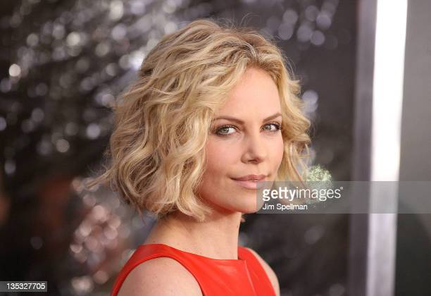 Actress Charlize Theron attends the Young Adult world premiere at the Ziegfeld Theatre on December 8 2011 in New York City