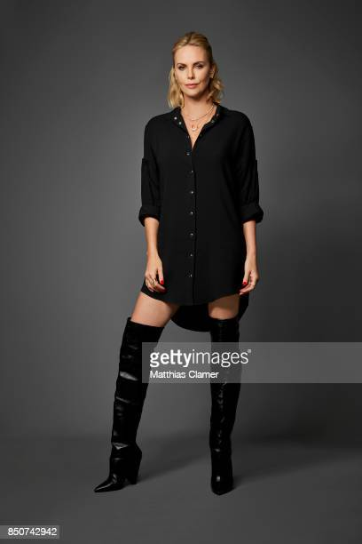 Actress Charlize Theron from Atomic Blonde is photographed for Entertainment Weekly Magazine on July 22 2017 at Comic Con in San Diego California...