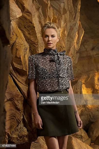 Actress Charlize Theron is photographed for USA Today on May 2 2015 at Siren Studios in Hollywood California PUBLISHED IMAGE