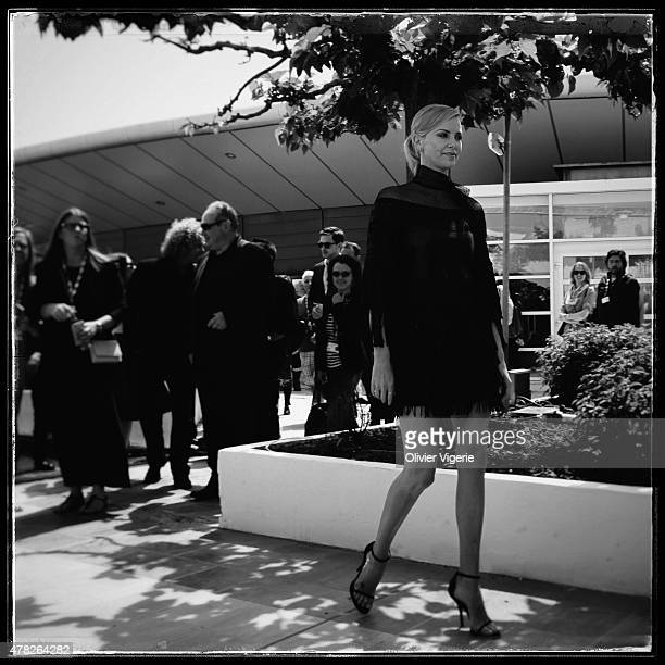 Actress Charlize Theron is photographed on May 15 2015 in Cannes France