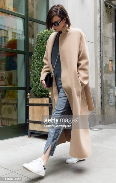 Actress Charlize Theron is seen arriving to her hotel on May 01 2019 in New York City