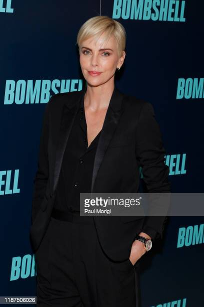 """Actress Charlize Theron poses at the """"Bombshell"""" Special Screening at the MPAA on November 13, 2019 in Washington, DC."""