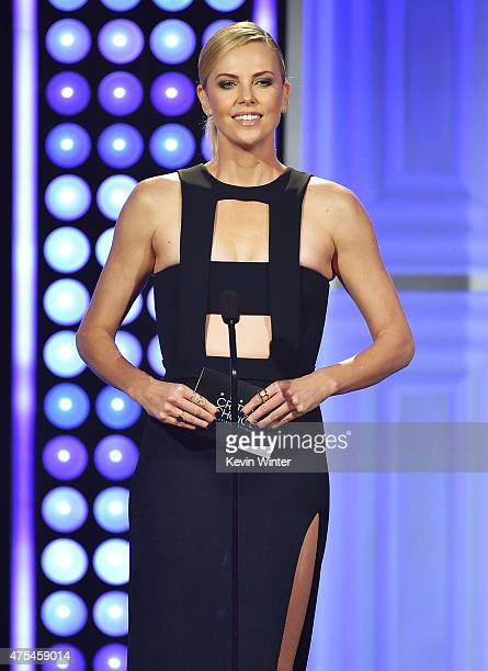 Actress Charlize Theron speaks onstage at the 5th Annual Critics' Choice Television Awards at The Beverly Hilton Hotel on May 31 2015 in Beverly...