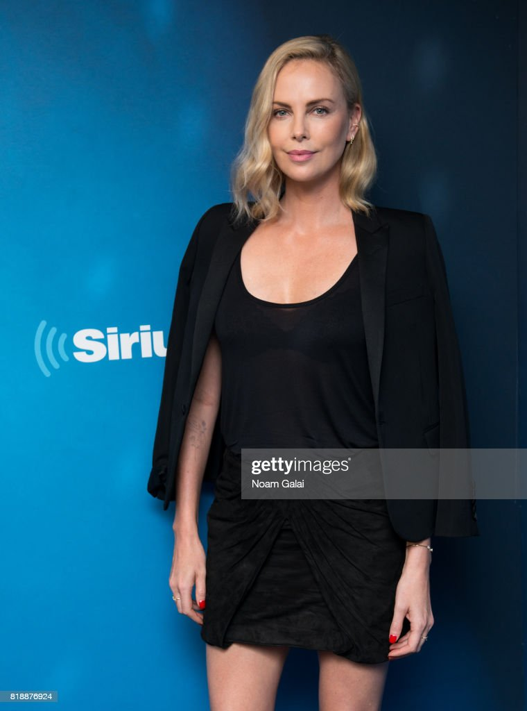 Actress Charlize Theron visits SiriusXM Studios on July 19, 2017 in New York City.