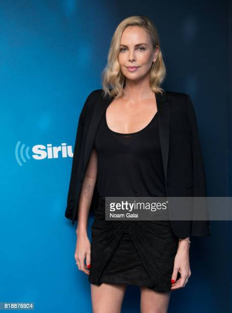 Actress Charlize Theron visits SiriusXM Studios on July 19 2017 in New York City