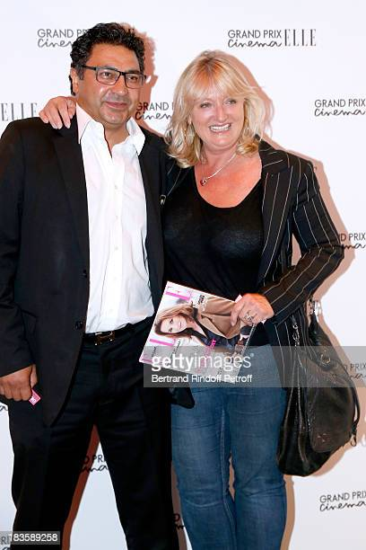 Actress Charlotte de Turckheim and her husband Zaman Hachemi attend 'Grand Prix Elle Cinema 2013' held at Cinema Gaumont ChampsElysees Marignan on...