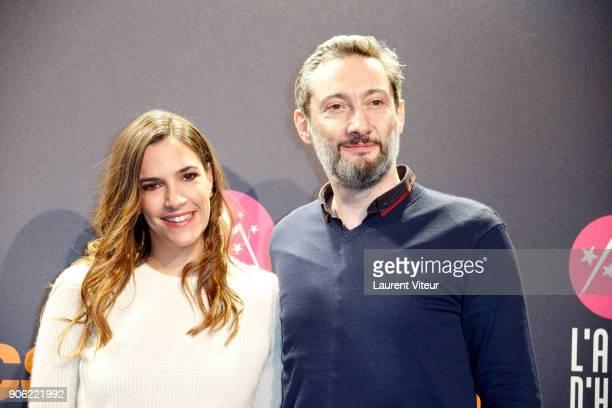 Actress Charlotte Gabris and Actor Vincent Desagnat attend 'Les Aventures de Spirou et Fantasio' Premiere during the 21st Alpe D'Huez International...