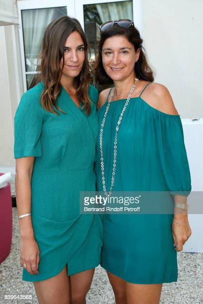 Actress Charlotte Gabris and press officer Alexandra Schamis attend the 10th Angouleme FrenchSpeaking Film Festival Day Five on August 26 2017 in...